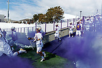 University at Albany Men's Lacrosse defeats Cornell 11-9 on Mar 4 at Casey Stadium.  Pregame smoke.