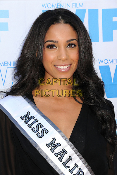 Brittany McGowan, Miss Malibu USA 2013<br /> 16th Annual Women In Film Malibu Golf Classic held at the Malibu Golf Club, Malibu, California, USA, 13th July 2013.<br /> portrait headshot black smiling <br /> CAP/ADM/BP<br /> &copy;Byron Purvis/AdMedia/Capital Pictures