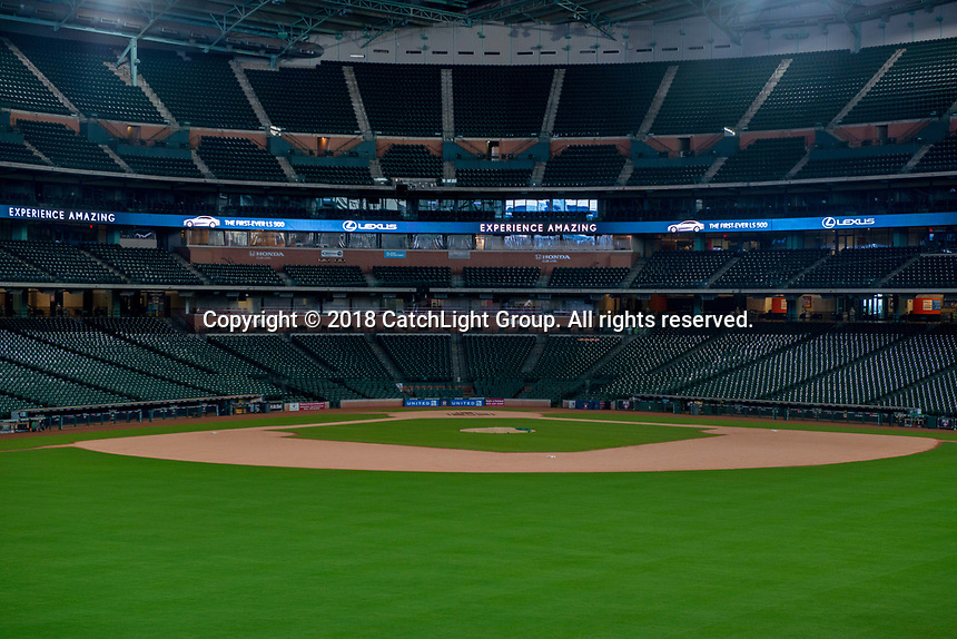 Lexus USA invited guests to preview the 2018 LS series while enjoying dinner in centerfield at Minute Maid Park prepared by Underbelly chefs Chris Shepherd and Nick Fine along with a visit with the Houston Astros World Series Champions trophy.