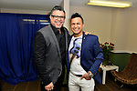 MIAMI, FL - FEBRUARY 12: Luis Enrique and Jorge Celedon backstage before performing at James L Knight Center on February 12, 2016 in Miami, Florida. ( Photo by Johnny Louis / jlnphotography.com )