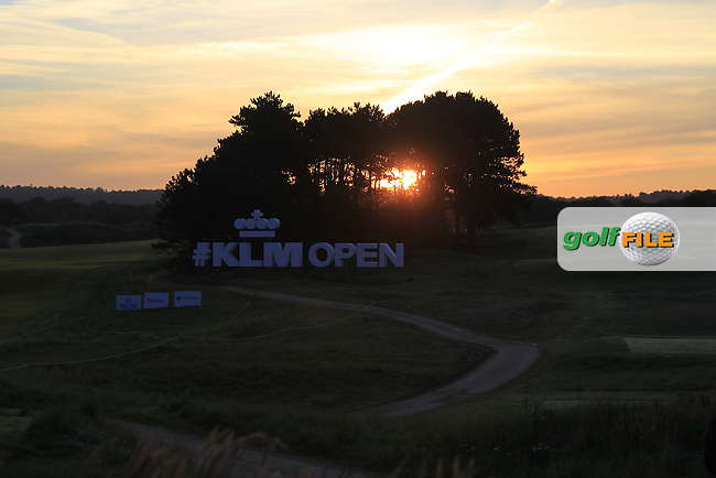 Sunrise on day 1 during Round 1 of the 2015 KLM Open at the Kennemer Golf &amp; Country Club in The Netherlands on 10/09/15.<br /> Picture: Thos Caffrey | Golffile