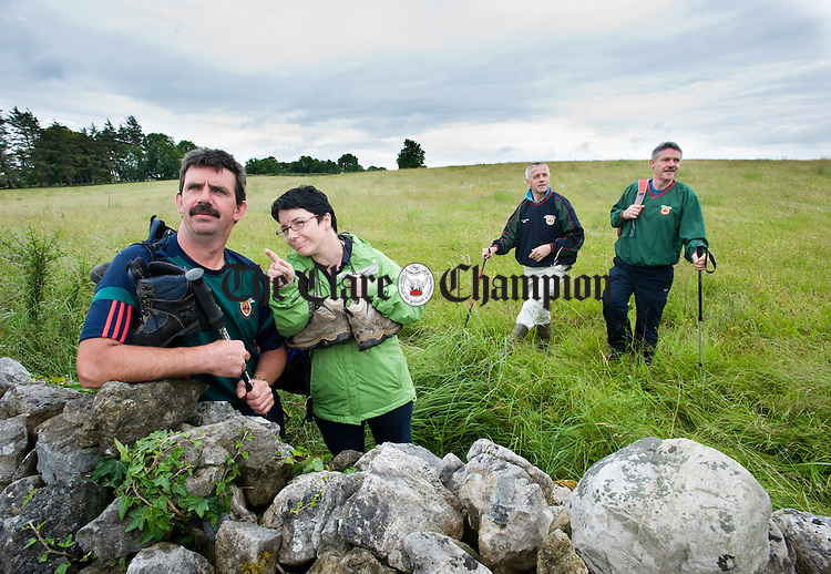 Brian Leamy, Martha Deegan, Michael Duggan and Sean Earls of Clooney-Quin GAA at the launch of their sponsored climb of Croagh Patrick which takes place on Sunday July 22nd. Photograph by John Kelly.
