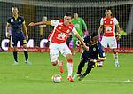Santa Fe se colocó al día en el torneo apertura tras vencer 3-1 en 'El Campín' al Deportivo Independiente Medellin, en juego aplazado de la fecha 6.