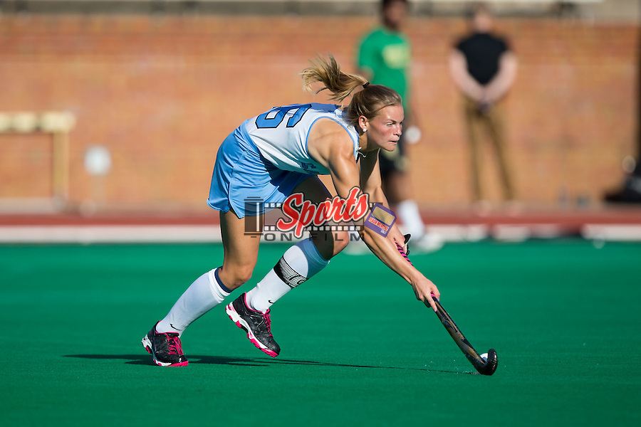 Julia Young (16) of the North Carolina Tar Heels controls the ball during second half action against the Wake Forest Demon Deacons at Kentner Stadium on October 23, 2015 in Winston-Salem, North Carolina.  The Demon Deacons defeated the Tar Heels 3-2.  (Brian Westerholt/Sports On Film)