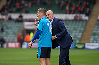 Fleetwood Town manager Uwe Rosler speaks with his player George Glendon during the Sky Bet League 1 match between Plymouth Argyle and Fleetwood Town at Home Park, Plymouth, England on 7 October 2017. Photo by Mark  Hawkins / PRiME Media Images.