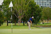 Nick Cullen (AUS) on the 3rd green during round 4 of the Australian PGA Championship at  RACV Royal Pines Resort, Gold Coast, Queensland, Australia. 22/12/2019.<br /> Picture TJ Caffrey / Golffile.ie<br /> <br /> All photo usage must carry mandatory copyright credit (© Golffile   TJ Caffrey)