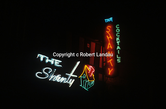 Neon .Sign for bar called The Shanty in Los Angeles, CA
