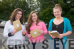 Presentation Convent Listowel: Students from Presentation Convent, Listowel Olivia Quirke-McFarlane, Clodagh Kissane & Brenda O'Donoghue in happy mood after getting their Leaving Cert results.
