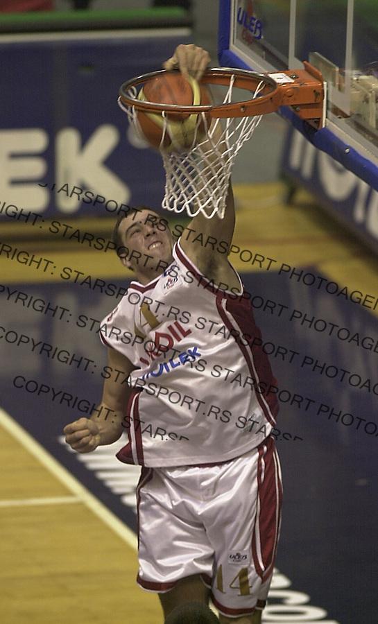 SPORT KOSARKA CRVENA ZVEZDA TELEKOM BON Dragojlovic Vladislav 21.12.2004. foto: Pedja Milosavljevic