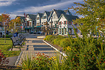 Bar Harbor shops and Agamont Park, Bar Harbor, ME, USA