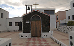 Tiny chapel in village in El Hierro.Canary islands, El Hierro, Spain.