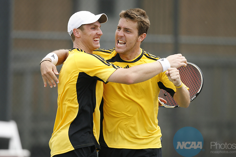 16 May 2008: The semifinal round of the 2008 Division II Men's tennis tournament at the Division II Sports Festival at Memorial Park in Houston, TX.  Trevor Brown, Jr./NCAA Photos.