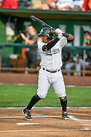 Pioneer League All-Star Meibrys Viloria (4) of the Idaho Falls Chukars at bat against the Northwest League All-Stars at the 2nd Annual Northwest League-Pioneer League All-Star Game at Lindquist Field on August 2, 2016 in Ogden, Utah. The Northwest League defeated the Pioneer League 11-5. (Stephen Smith/Four Seam Images)