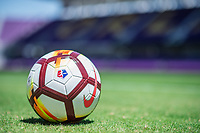 Orlando, FL - Saturday March 24, 2018: NWSL NIKE Ball during a regular season National Women's Soccer League (NWSL) match between the Orlando Pride and the Utah Royals FC at Orlando City Stadium.