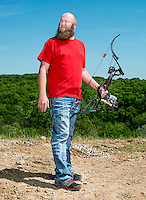 Leonard Busby (cq), with team Trashy Boyz from Searcy, Arkansas, at the U.S. Open Bowfishing Championship, Saturday, May 3, 2014. <br /> <br /> Photo by Matt Nager