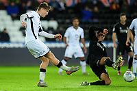 George Byers of Swansea City has a shot during the Sky Bet Championship match between Swansea City and Charlton Athletic at the Liberty Stadium in Swansea, Wales, UK.  Thursday 02 January 2020