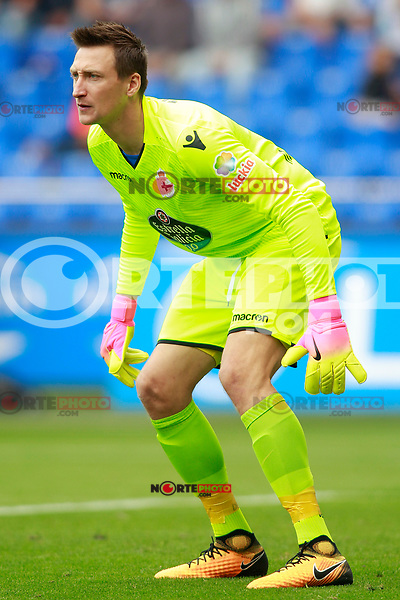 Deportivo de la Coruna's Przemyslaw Tyton during La Liga match. September 10,2017. (ALTERPHOTOS/Acero) /NortePhoto.com