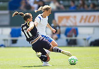 LA Sol's Brittany Bock steals the ball from Boston Breakers Kristine Lilly. The Boston Breakers and LA Sol played to a 0-0 draw at Home Depot Center stadium in Carson, California on Sunday May 10, 2009.   .