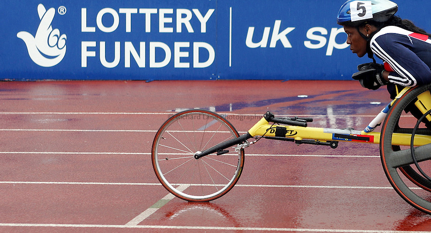 Photo: Paul Thomas..VISA Paralympic World Cup 2007. Athletics. 13/05/2007...Anne Wafula-Strike of Great Britain.