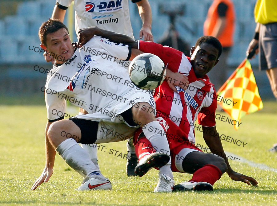 Awal Isaah Aval Isah Jelen Superliga BSK Borca vs Crvena Zvezda 12.9.2010. stadion  (credit image & photo: Pedja Milosavljevic  / STARSPORT / +381641260959 / thepedja@gmail.com)