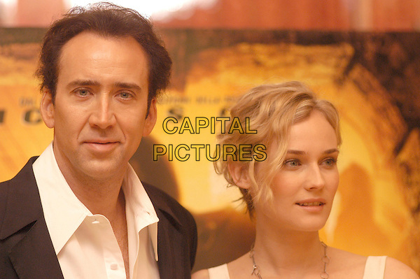 "NICHOLAS CAGE & DIANE KRUGER.Photocall for ""National Treasure"".Hotel St.Regis, Rome, Italy , December 2nd 2004.                               .portrait headshot.Ref: LC.www.capitalpictures.com.sales@capitalpictures.com.©Luca Cavallari/Capital Pictures ."