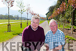 Pat Dawson regional manager of the National Parks and Widlife and Gerry Murphy Horticultural Advisor at the new Cherry tree walkway in the grounds of the Killarney House