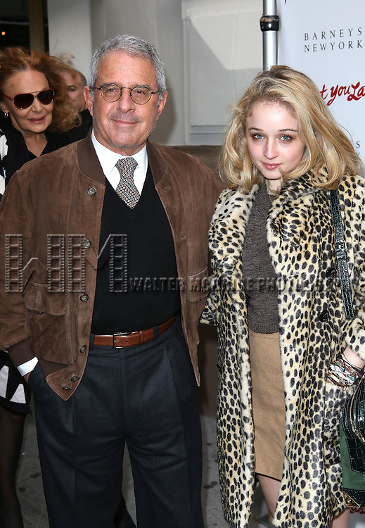 Ron Meyer & daughter  attending the Broadway Opening Night Performance of 'I'll Eat You Last' at the Booth Theatre in New York City on 4/24/2013
