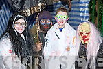 Ellen Lynch Ballymac, Jimmy Cullinane Cordal, Daragh Lynch Ballymac and Neilus Dillon Knocknagoshel preparing to scare at the Knocknagoshel Halloween festival on Sunday night