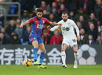 Crystal Palace's Andros Townsend and Burnley's Steven Defour<br /> <br /> Photographer Rob Newell/CameraSport<br /> <br /> The Premier League - Saturday 1st December 2018 - Crystal Palace v Burnley - Selhurst Park - London<br /> <br /> World Copyright &copy; 2018 CameraSport. All rights reserved. 43 Linden Ave. Countesthorpe. Leicester. England. LE8 5PG - Tel: +44 (0) 116 277 4147 - admin@camerasport.com - www.camerasport.com
