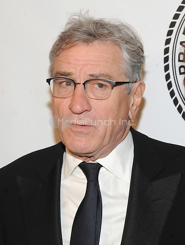 New York, NY- October 7:  Robert De Niro attends the Friars Foundation Gala honoring Robert De Niro and Carlos Slim at the Waldorf-Astoria on October 7, 2014 in New York City. Credit: John Palmer/MediaPunch