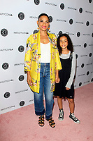 LOS ANGELES - AUG 12:  Goapele, daughter Haifa at the 5th Annual Beautycon Festival Los Angeles at the Los Angeles Convention Center on August 12, 2017 in Los Angeles, CA