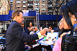 General Hospital Kin Shriner signs for fans after he taped Katie Couric's Talk Show on April 2, 2013 in New York City, New York. Fans came to the show and were outside the studio to greet the actors as they left. (Photo by Sue Coflin/Max Photos)