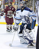 (Stephen Gionta) Ben Bishop - The Boston College Eagles defeated the University of Maine Black Bears 4-1 in the Hockey East Semi-Final at the TD Banknorth Garden on Friday, March 17, 2006.