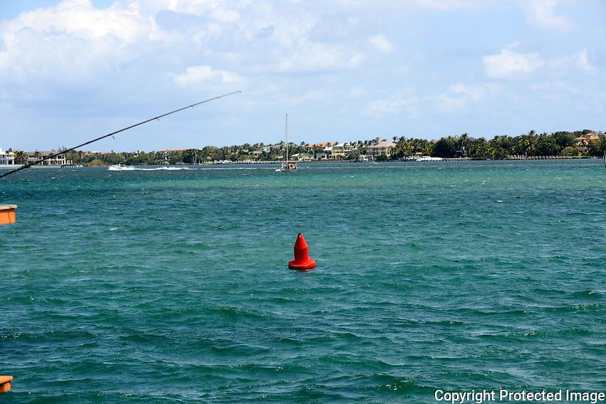 Intracoastal Channel Marker located near the Boynton Beach Inlet, Boynton Beach, Florida.