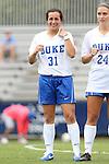 14 September 2014: Duke's Christina Gibbons. The Duke University Blue Devils hosted the Louisiana State University Tigers at Koskinen Stadium in Durham, North Carolina in a 2014 NCAA Division I Women's Soccer match. Duke won the game 1-0.