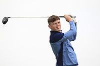 Marc McKinstry (Cairndhu) on the 2nd tee during Round 1 of The East of Ireland Amateur Open Championship in Co. Louth Golf Club, Baltray on Saturday 1st June 2019.<br /> <br /> Picture:  Thos Caffrey / www.golffile.ie<br /> <br /> All photos usage must carry mandatory copyright credit (© Golffile | Thos Caffrey)