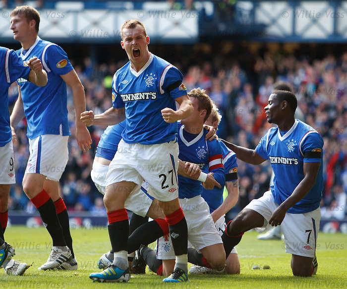 Gregg Wylde roars with delight as Rangers take the lead