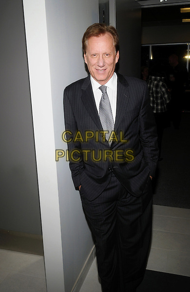 Actor James Woods attends 'A Conversation With James Woods' presented by CARSTAR Automotive Canada Inc. in support of Cystic Fibrosis Canada at Carmen's Banquet and Convention Centre, Hamilton, Ontario, Canada..November 20th, 2011.half 3/4 length black suit grey gray tie white shirt hands in pockets.CAP/ADM/BPC.©Brent Perniac/AdMedia/Capital Pictures.