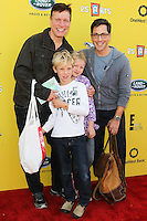 SANTA MONICA, CA, USA - NOVEMBER 16: Don Roos, Jonah Bucatinsky, Dan Bucatinsky, Eliza Bucatinsky arrives at the P.S. ARTS Express Yourself 2014 held at The Barker Hanger on November 16, 2014 in Santa Monica, California, United States. (Photo by Celebrity Monitor)
