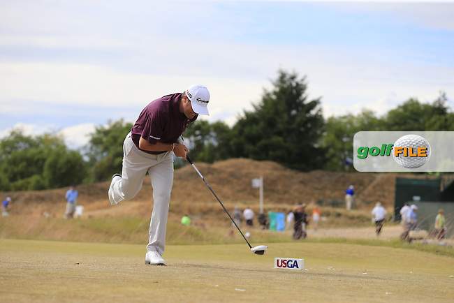 Ryan PALMER (USA) tees off the 4th tee during Thursday's Round 1 of the 2015 U.S. Open 115th National Championship held at Chambers Bay, Seattle, Washington, USA. 6/19/2015.<br /> Picture: Golffile   Eoin Clarke<br /> <br /> <br /> <br /> <br /> All photo usage must carry mandatory copyright credit (&copy; Golffile   Eoin Clarke)