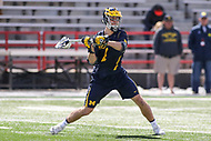 College Park, MD - April 1, 2017: Michigan Wolverines Decker Curran (4) attempts a shot during game between Michigan and Maryland at  Capital One Field at Maryland Stadium in College Park, MD.  (Photo by Elliott Brown/Media Images International)