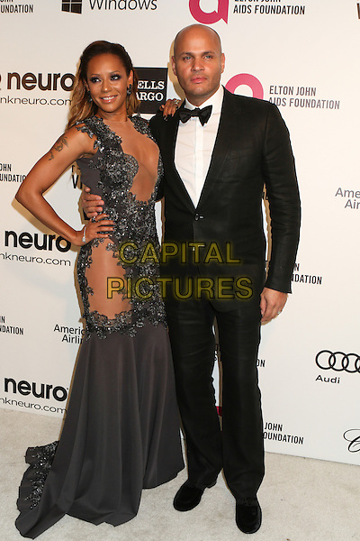 WEST HOLLYWOOD, CA - MARCH 2: Melanie Brown, Stephen Belafonte attending the 22nd Annual Elton John AIDS Foundation Academy Awards Viewing/After Party in West Hollywood, California on March 2nd, 2014.  <br /> CAP/MPI/mpi99<br /> &copy;mpi99/MediaPunch/Capital Pictures