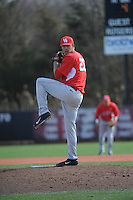 University of Houston Cougars pitcher Jake Lemoine (26) during game game 2 of a double header against the Rutgers Scarlet Knights at Bainton Field on April 5, 2014 in Piscataway, New Jersey. Houston defeated Rutgers 9-1.      <br />  (Tomasso DeRosa/ Four Seam Images)