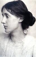 Portrait:  Virginia Woolf (Adeline Virginia Stephen)--1882-1941.  Age 20, 1902. Portrait by George Charles Beresford.