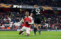 Eddie Nketiah of Arsenal reaction after his goal is disallowed during the UEFA Europa League match between Arsenal and Qarabag FK at the Emirates Stadium, London, England on 13 December 2018. Photo by Andy Rowland.