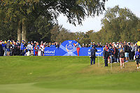 Annie Park of Team USA on the 7th tee during Day 1 Foursomes at the Solheim Cup 2019, Gleneagles Golf CLub, Auchterarder, Perthshire, Scotland. 13/09/2019.<br /> Picture Thos Caffrey / Golffile.ie<br /> <br /> All photo usage must carry mandatory copyright credit (© Golffile | Thos Caffrey)