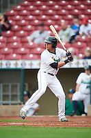 Cedar Rapids Kernels center fielder Christian Cavaness (8) during the first game of a doubleheader against the Kane County Cougars on May 10, 2016 at Perfect Game Field in Cedar Rapids, Iowa.  Kane County defeated Cedar Rapids 2-0.  (Mike Janes/Four Seam Images)