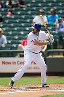 Round Rock Express outfielder Brad Snyder #25 at bat during the Pacific Coast League baseball game against the Memphis Redbirds on April 27, 2014 at the Dell Diamond in Round Rock, Texas. The Express defeated the Redbirds 6-2. (Andrew Woolley/Four Seam Images)