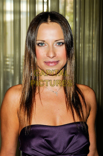 EDYTA SLIWINSKA.Lupus LA's 7th Annual Bag Ladies Luncheon to raise funds for lupus research at the Beverly Wilshire Four Seasons Hotel in Beverly Hills, California, USA..November 18th, 2009.headshot portrait strapless purple .CAP/ROT.©Lee Roth/Capital Pictures