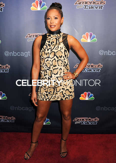 NEW YORK CITY, NY, USA - AUGUST 13: Mel B, Melanie Brown arrives at the 'America's Got Talent' Season 9 Post Show Red Carpet held at Radio City Music Hall on August 13, 2014 in New York City, New York, United States. (Photo by Celebrity Monitor)